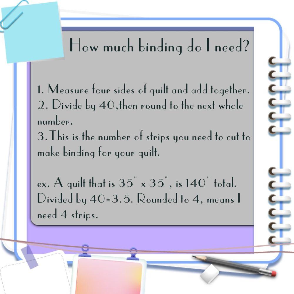 Binding formula chart