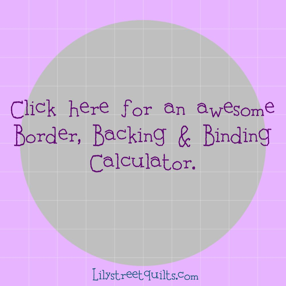 Border,binding,backing calculator