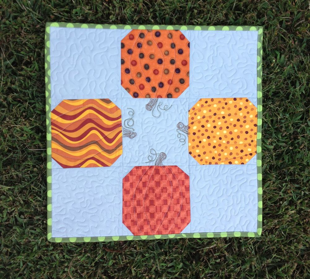 Pumpkin Table Topper The Sassy Quilter