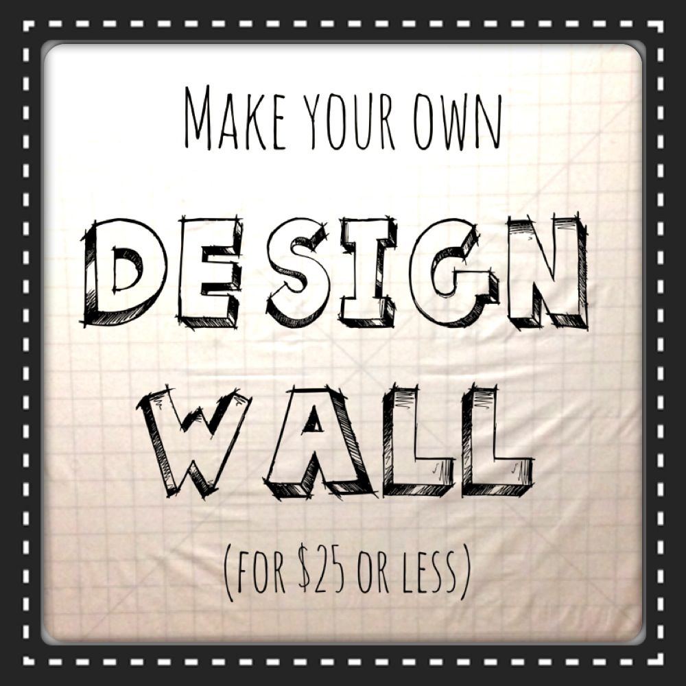 Quilting design wall how to make