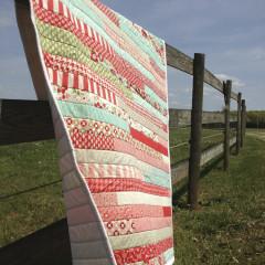 JellyRoll Strip Quilt, VIntage Modern