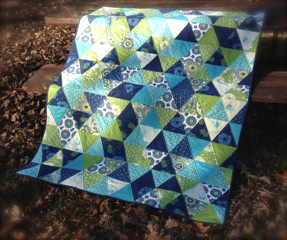 Triangle Quilt - The Sassy Quilter