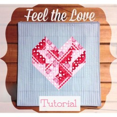 Feel the Love, Valentine Wall Hanging.