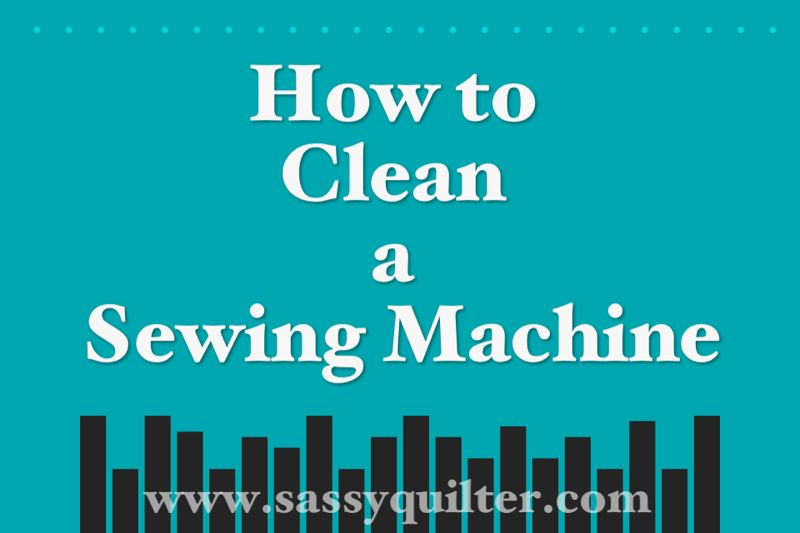 How to clean a sewing machine