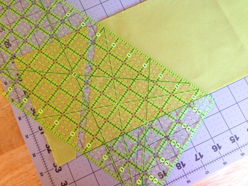 how to cut 60 degree triangles for quilting