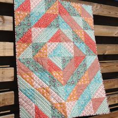 Tangerine Squared Quilt