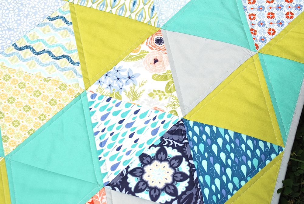Sunnyside Triangle Quilt Finish The Sassy Quilter