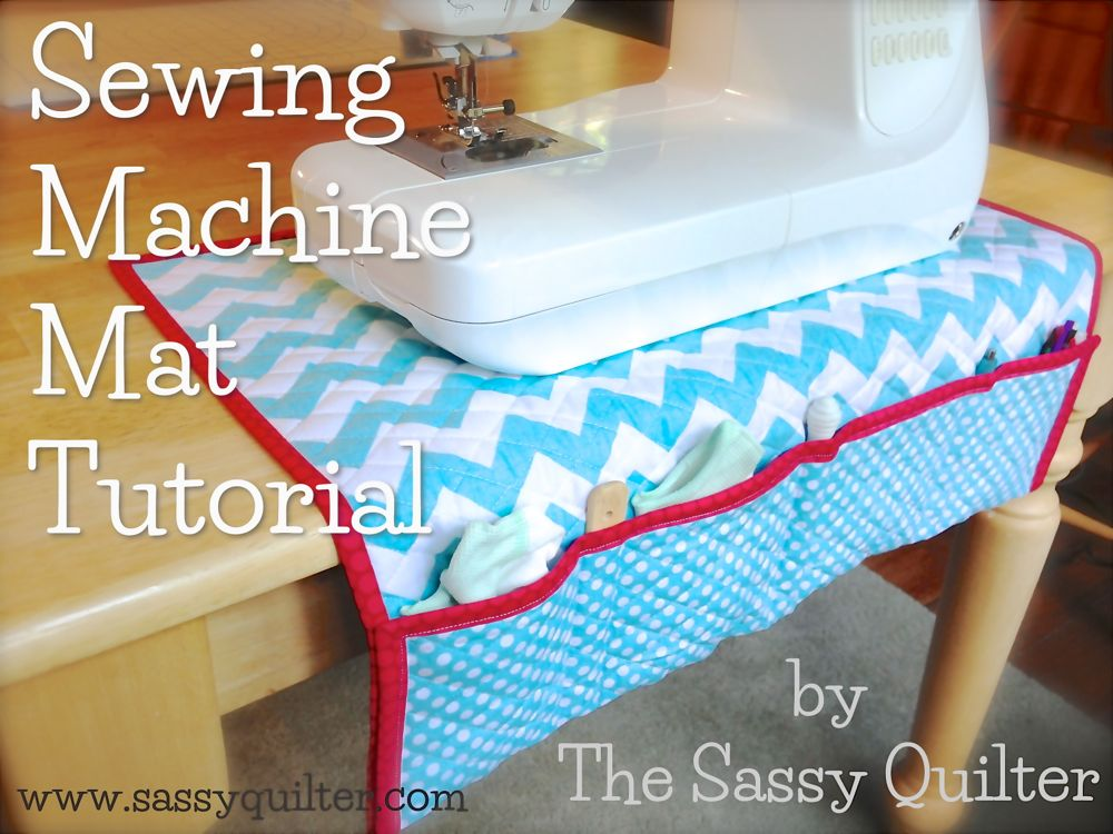 Sewing Machine Mat Tutorial The Sassy Quilter Delectable How To Quilt With A Sewing Machine For Beginners