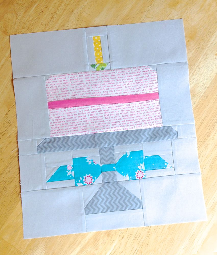 Quilty Fun Birthday Block The Sassy Quilter